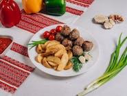 Frykadelki smażone z ziemniakami po kozacku