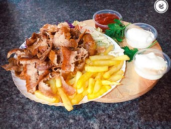 Kebab mały na talerzu