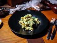 Tagliatelle con spinaci e gorgonzola