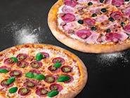 2 duże pizze - 4 składniki