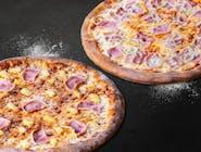 2 duże pizze - 2 składniki