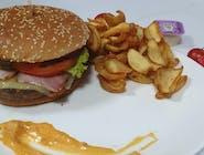 MENIU Cheeseburger cu gorgonzola
