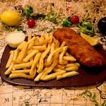 Slavonski odrezak+pommes+tartar+kruh