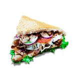 Kebab s bielym tureckým chlebom