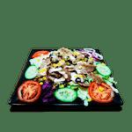 Fitness tanier s tureckým chlebíkom