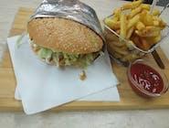 KEBAB MENU  - s kuracím mäsom v žemľi/tortille/pite s klasickými hranolkami