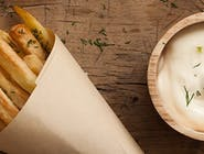 Hranolky s tatárskou omačkou