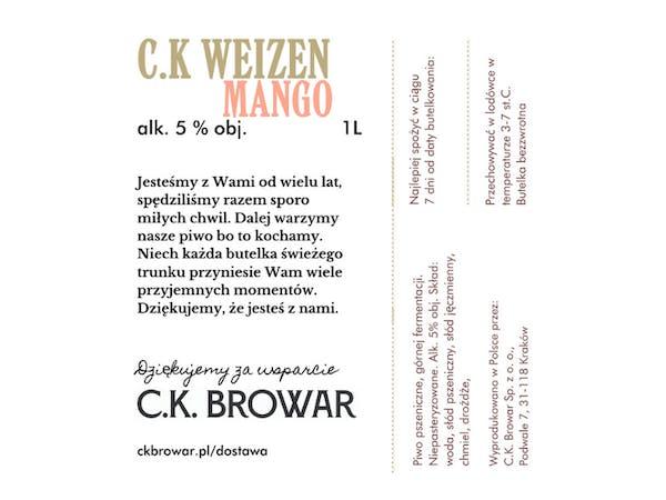 C.K. Mango Weizen, PET 1l