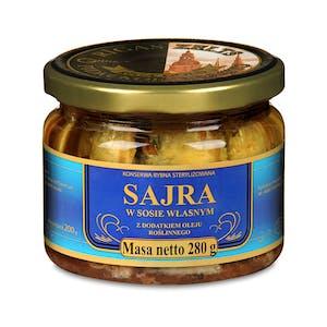 Sajra w sosie własnym z dodatkiem oleju