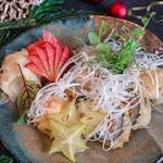 Sałatka z małż w tempurze
