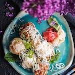 Tatar z tuńczyka w tempurze