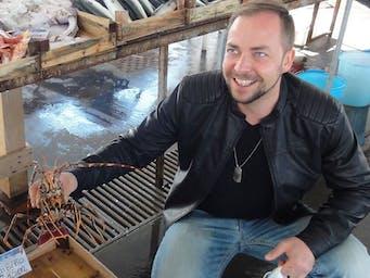 Nauka na targu rybnym w Trapani