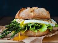 Burger OVO-Asparagus