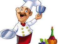 Borowikowe Eskalopki Schabowe zapiekane z duetem serowym (Boule de Lille , mozzarella) z grillowaną czosnkową cukinią