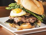 Burger   Asparagus
