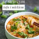 Zupa curry ze świeżym tofu i mlekiem kokosowym + dowolny waffel z menu + lemoniada domowa lub kawa