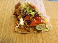 Kebab w bułce wieprzowo-wołowy duży