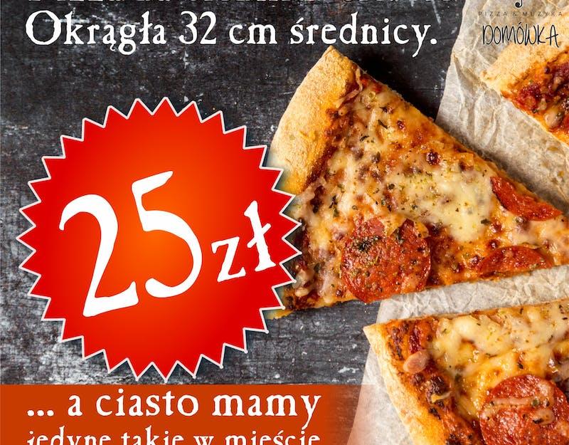 Nowość - okrągła pizza na cienkim cieście!