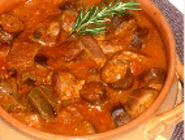 Tochitura din carne de porc si carnati (livrat la oala)