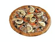 Pizza con Salmone Afumicatto
