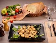 Ciuperci umplute cu brânză nobilă