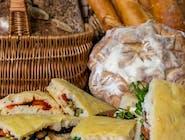 Focaccia ripiena - włoska kanapka, różne nadzienia