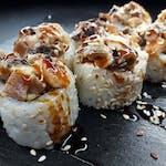 Zapiekany Roll Shiitake z łososiem - 8szt