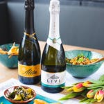 Wytrawne  BEZALKOHOLOWE wino musujące ALITA produkowane metodą szampańską.