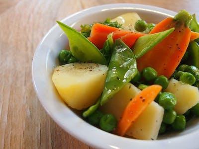 Bukiet warzyw na parze