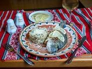 Dorada la gratar cu orez salbatic, parmesan si lamaie