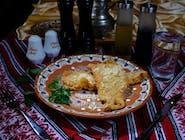 Șnițel parizian din piept de pui cu cartofi prăjiți