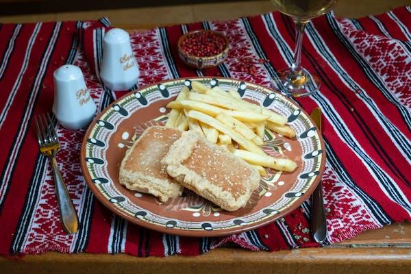 Cașcaval pane cu cartofi