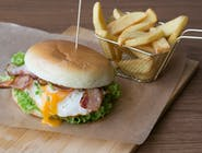 Burger Posejdon z Frytkami