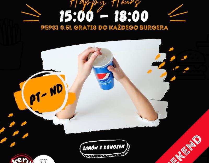Happy Hours - Półlitrowe Pepsi Gratis