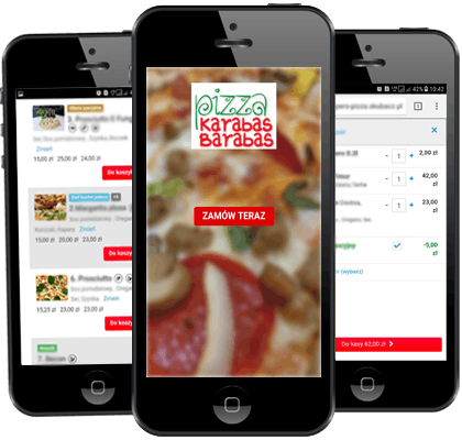 Pizza na telefon z Androidem