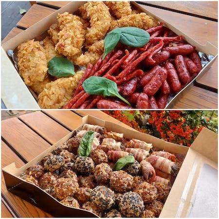 Cutia cu aperitive din carne
