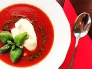 Zuppa crema di pomodori con mascarpone