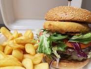 6.Burger Camembert 100%wołowina