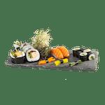 Salmon tempura lunch