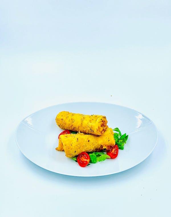 Clătite în crustă de parmezan