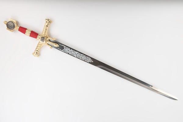 Sabia King Solomon aurit-112cm