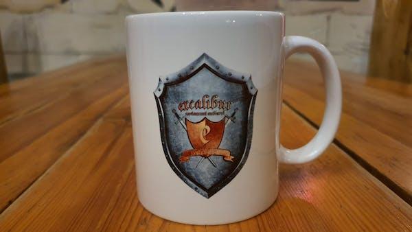 Cana alba Excalibur din ceramica