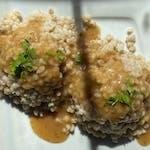 Kasza pęczak w sosie pieczeniowym