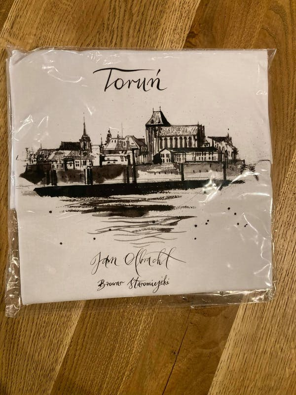 Koszulka biała - Panorama Torunia