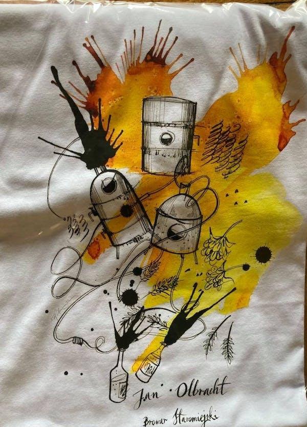Koszulka biała - Produkcja Piwa