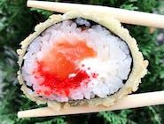 Futomaki  w tempurze  z łososiem