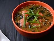 Miso zupa z łososiem