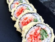 Futomaki w tempurze z surimi spicy