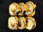 Tempura Maki z dorszem w tempurze, serkiem Philadelphia i warzywami