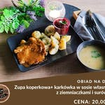Zupa koperkowa+ Karkówka +Ziemniaczki + Buraczki